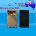 Nokia Lumia 800 LCD and touch screen assembly with frame [Black]